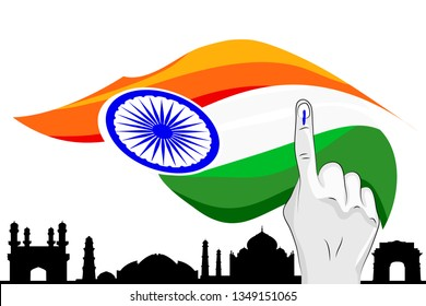 India Flag Chakra Vote Heritage