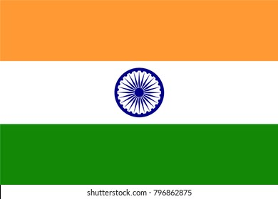 India Flag country. Illustrator vector
