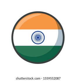 india flag design, country national state patriotism united world and international theme Vector illustration