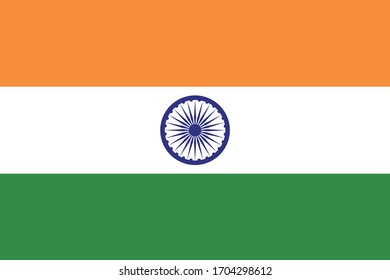 India flag national country vector culture nation