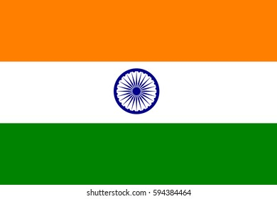 India flag vector icon.