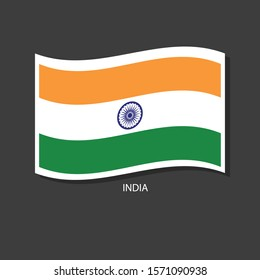 India flag Vector waving with flags.