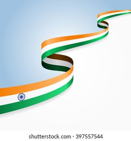 India flag wavy abstract background. Vector illustration.