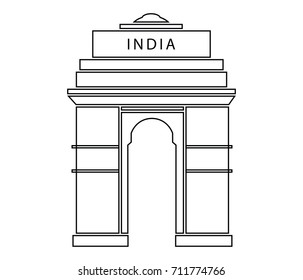 India Gate outline