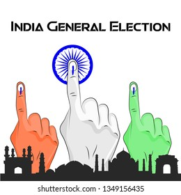 india general election voting sign