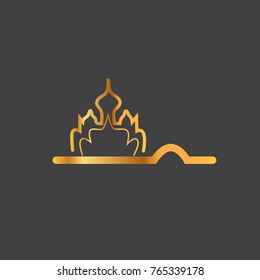 India. Gold logo in minimalistic style.