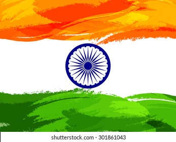 India Happy Independence Day abstract Background  Design