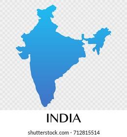 India map in Asia continent illustration design