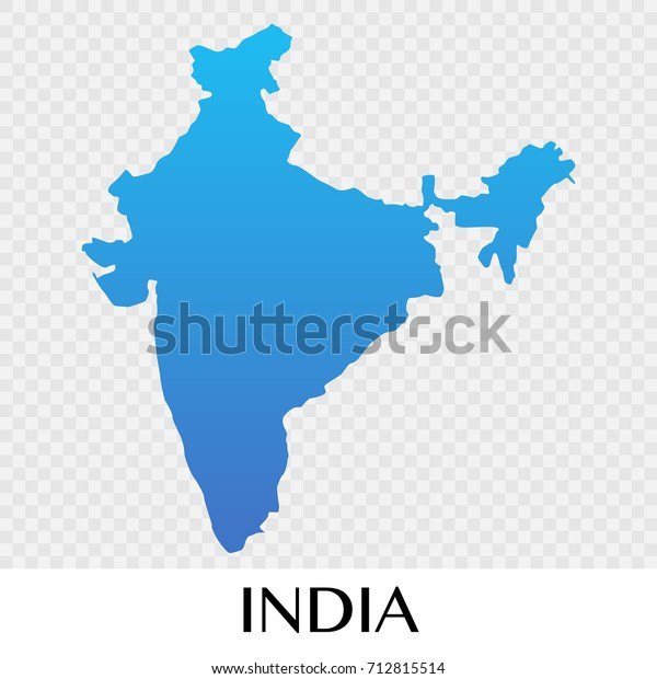 Map Of Asia Continent.India Map Asia Continent Illustration Design Stock Vector Royalty