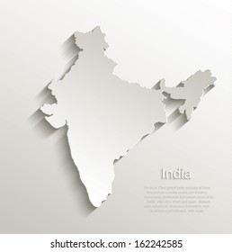 India map card paper 3D natural vector