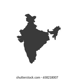 India map vector. / India map.