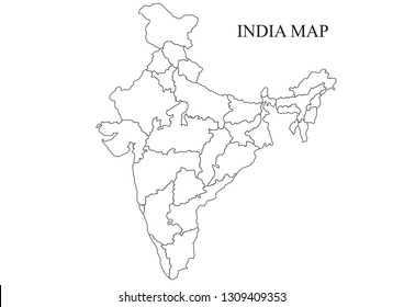 India State Map Images, Stock Photos & Vectors | Shutterstock on india river map, india south asia map, texas county map black and white, india political map, river clip art black and white, india map with latitude and longitude, india map with city,