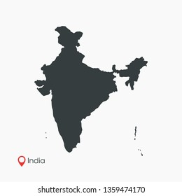 India Map Vector Template Isolated