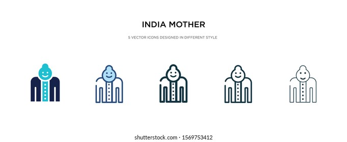 india mother icon in different style vector illustration. two colored and black india mother vector icons designed in filled, outline, line and stroke style can be used for web, mobile, ui