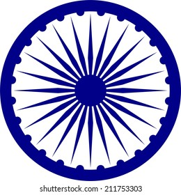 India national symbol on flag isolated vector in official colors