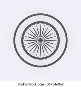 India national symbol . Vector illustration