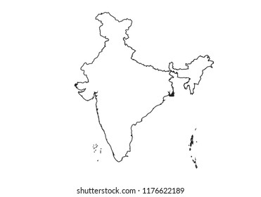 India Map Outline Images Stock Photos Vectors Shutterstock
