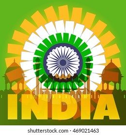 India Poster Concept. Vector EPS10