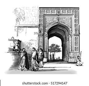 India, Rajasthan - Jaisalmer - Vector illustration
