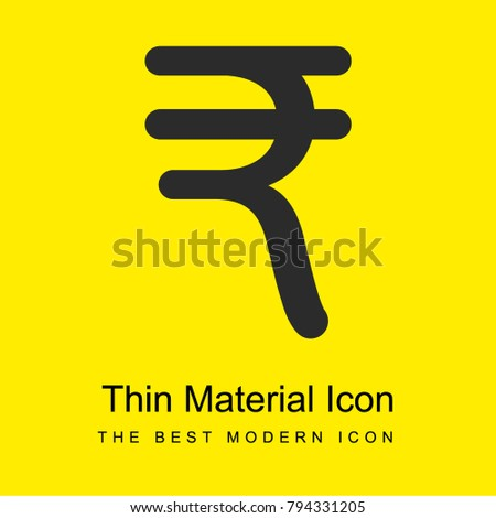 India Rupee Currency Symbol Bright Yellow Stock Vector Royalty Free