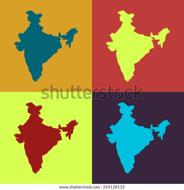 India State Border Map Retro Colors Stock Vector (Royalty ... on india city map, india clear map, india floral designs, india boundary map, india landscape map, india wall map, india world heritage sites map, india base map, india solid map, india and pakistan border dispute, india caste system map, india green map, india henna map, india bangladesh border, india london map, bangladesh map, india travel map, india watershed map, india border art, india center map,