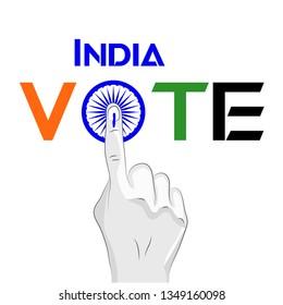 india vote hand symbol
