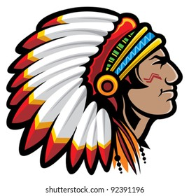 indian chief mascot images stock photos vectors shutterstock rh shutterstock com indian chief cartoon clipart american indian chief clipart