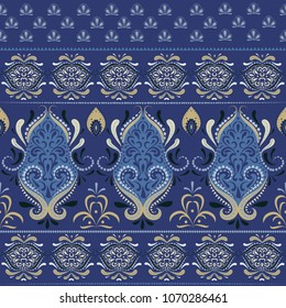 Indian abstract medallion pattern. Boho, ethnic and gypsy style.