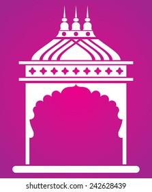 Indian arch. Jharokha.