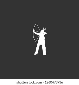 indian archer icon vector. indian archer sign on black background. indian archer icon for web and app