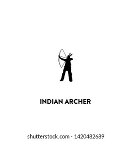indian archer icon vector. indian archer sign on white background. indian archer icon for web and app