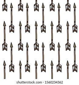 indian arrows seamless doodle pattern, vector illustration