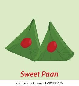 Indian betel leaf Sweet Paan