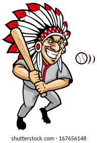 indian chief baseball mascot