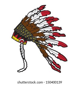 Indian chief headdress vector