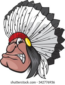 Indian Chief.  Vector file available.