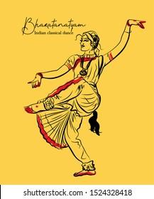 Indian Dance Sketch Images Stock Photos Vectors Shutterstock
