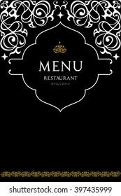 Indian cuisine restaurant menu design.