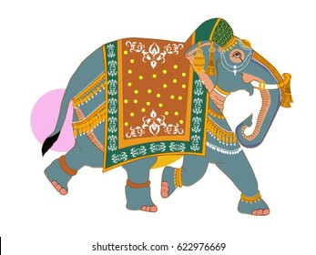 Indian Elephant decorated for wedding