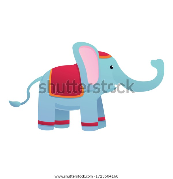 Indian elephant icon. Cartoon of indian elephant vector icon for web design isolated on white background