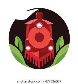 Indian express train. Vector logo. Element for your design.