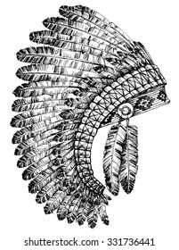 Indian feathers headdress