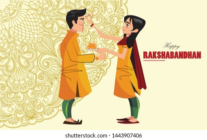 Indian festival of brother and sister called raksh bandhan