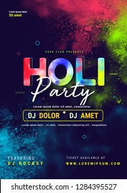 Indian Festival of Colours, Happy Holi celebration, poster, flyer