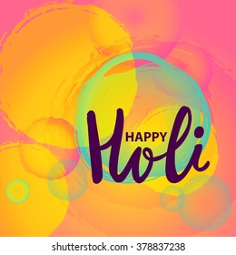 Indian Festival of Colours, Happy Holi celebration,-vector-illustration