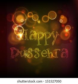 Indian festival Happy Dussehra shiny background.