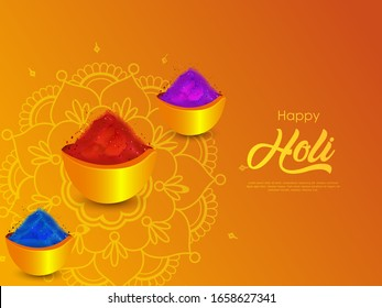 Indian Festival Of Happy Holi colorful Background