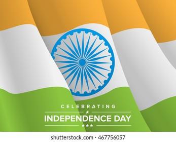 Indian Flag with Ashoka Chakra vector illustration eps10