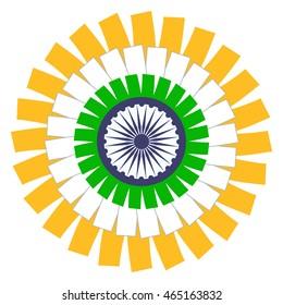Indian Flag Circle Concept. Vector EPS 8