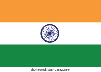 Indian flag with correct color combinations